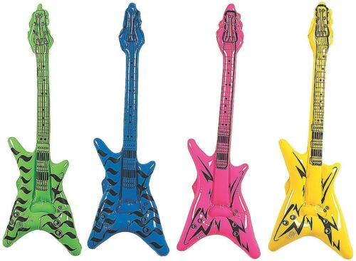 """42"""" Inflatable """"V"""" Shaped Guitar - DJ Promo, Party Favor Inflate Music Toy"""