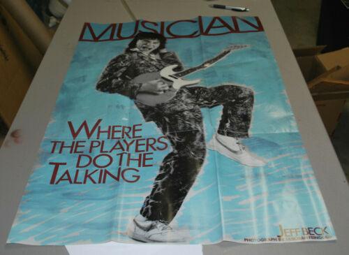 Jeff Beck 1985 rare Musician magazine poster