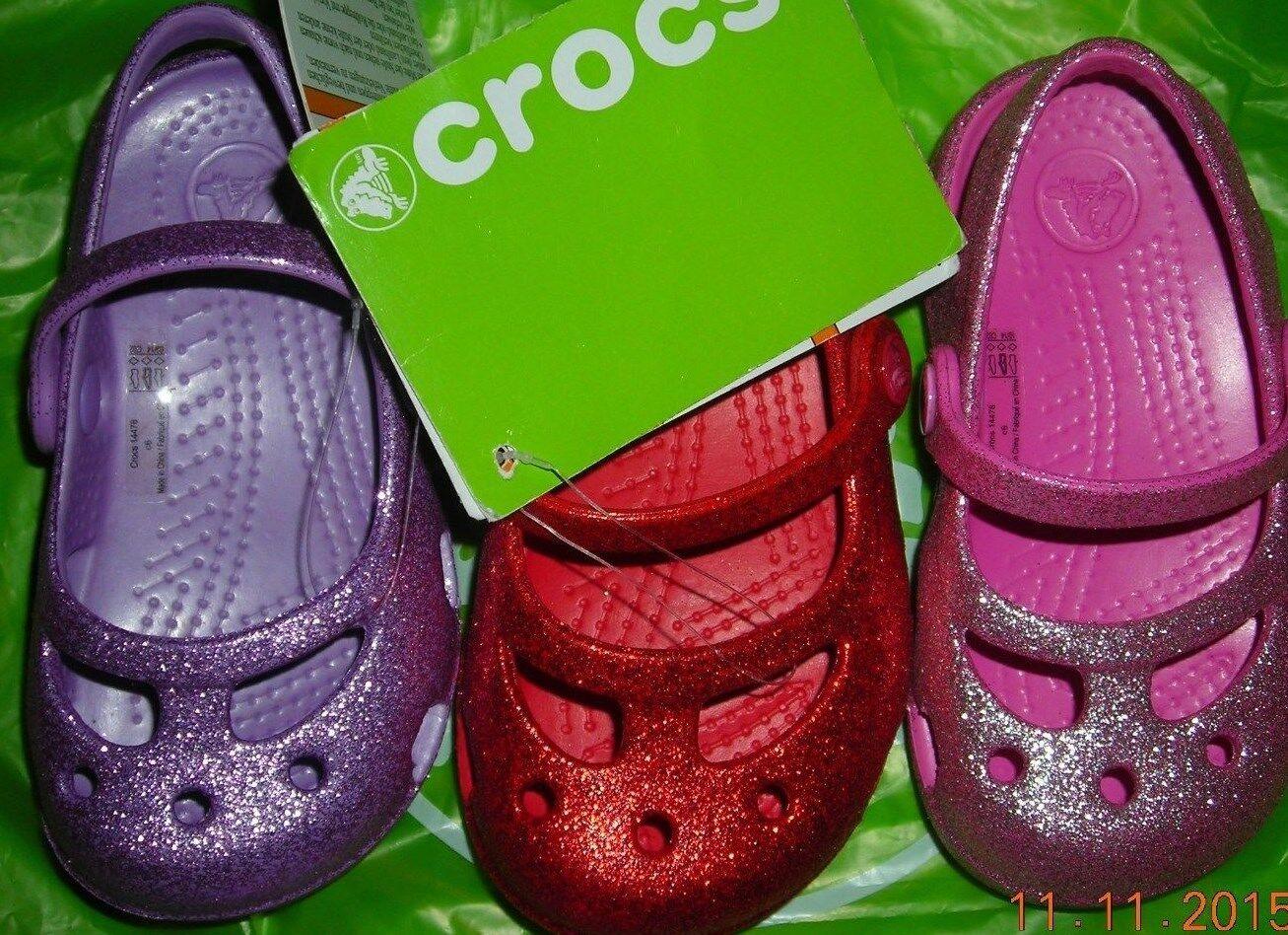 Infant/toddler Crocs sparkly dress shoes