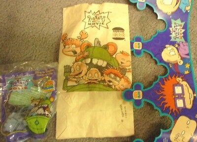 RugRats the Movie Burger King Meal Bag Crown & Dactar Glider unopened ! 1998 comprar usado  Enviando para Brazil