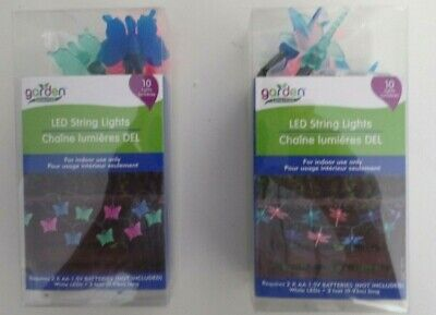 LED STRING LIGHTS-- BUTTERFLY OR DRAGON FLIES  --ASSORTED COLORS - Butterfly Lights