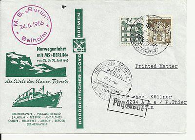 NDL Sonderumschlag SU014  6. Norwegenfahrt 24.06.1966 (DS)