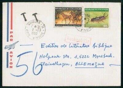 MayfairStamps Ivory Coast 1980 Abidjan to Germany Air Mail Cover wwo49301