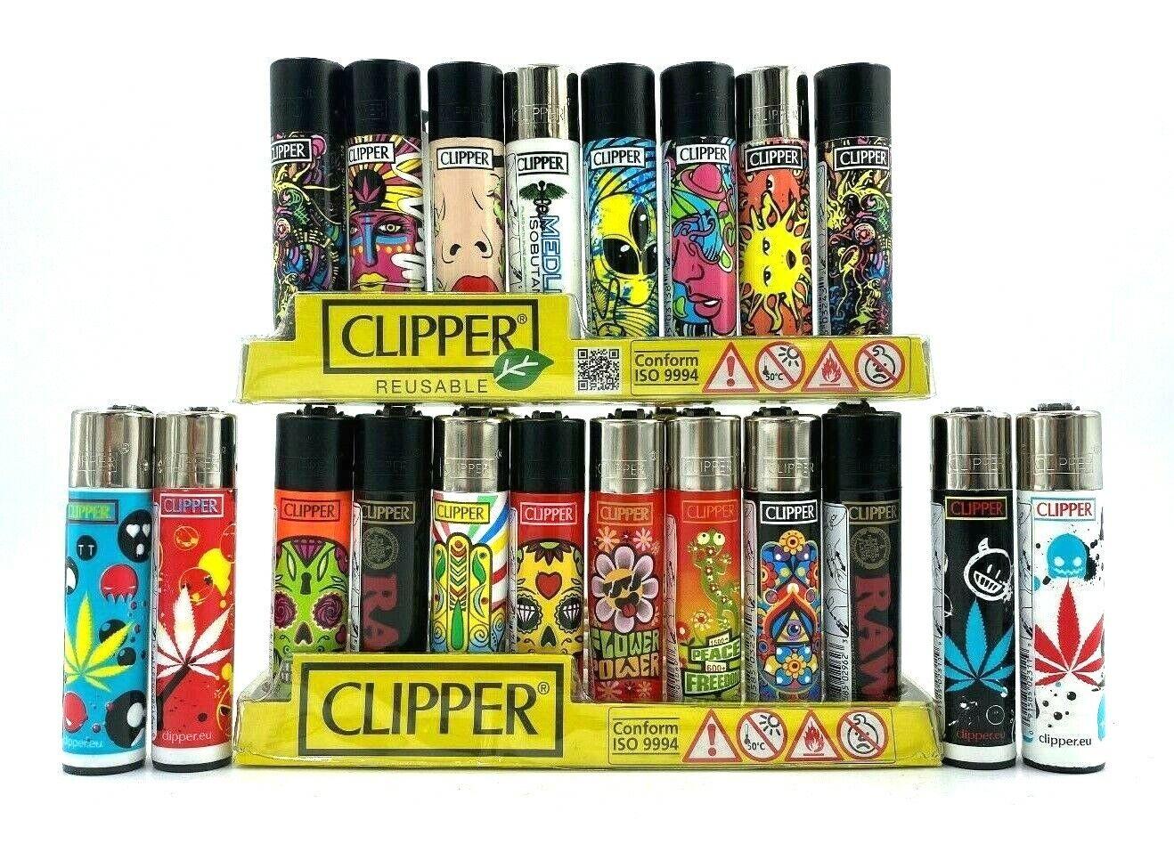 12 X Original Brand CLIPPER LIGHTERS Full Size Refillable Mu