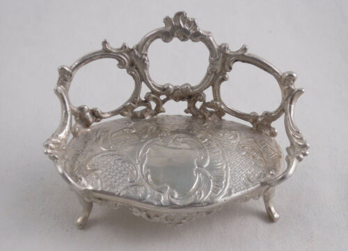 DUTCH SILVER MINIATURE DOLLHOUSE SETTEE NOT STERLING