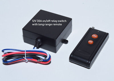 MSD-INC 12V output 30A ON OFF RF relay switch long range remote control RX10P