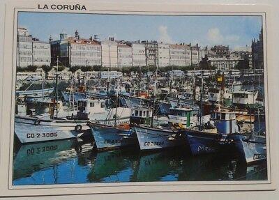 LA CORUNA POSTCARD SPAIN DARSENA MARINA