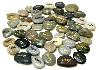 River Rocks / Engraved Stones with Inspirational Words  - Inspirational Rocks