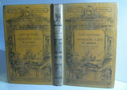 RARE 🔥 ANTIQUE BOOK_HUNTING in AFRICA_LION BOAR FOX PANTHER ANTELOPE_DORE PICTS