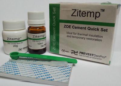 Prevest Denpro Zitemp - Dental Products- Zoe Cement Quick Set -temporary 20g