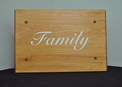 """""""Family"""" decorative stool, family, living room, fireplace, home, house warming"""
