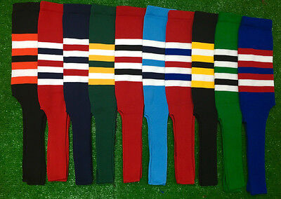 Baseball Softball Stirrups Socks Dark Green Red Navy Black Kelly Royal Stripes  Black Baseball Stirrup