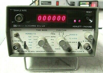 Hp 5300a Measuring System 5302a 50 Mhz Universal Counter Free Shipping