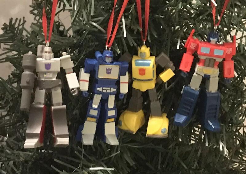 Transformers Christmas Ornament Set Optimus Prime Bunblebee Soundwave Megatron