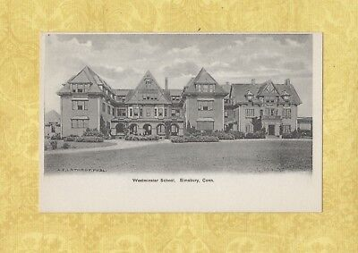 Ct Simsbury 1908 19 Vintage Postcard Westminster School Conn Education