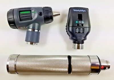 Welch Allyn 3.5v Diagnostic Set 23810 Macroview Otoscope 11720 Ophthalmoscope