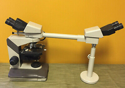 Nikon Labophot-2 Microscope Dual Head Teaching Microscope. Tested