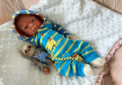 """Full Silicone 14"""" Reborn Baby Boy Rowan By Kimberly Keller Kimbry Dolls"""