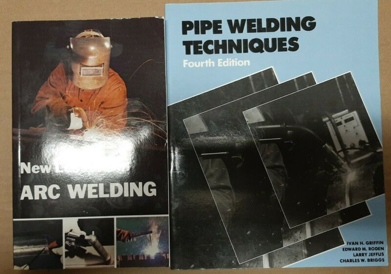 2 WELDING BOOK NEW LESSONS IN ARC WELDING & PIPE WELDING TECHNIQUES UNUSED