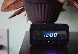 Full HD 1080P Wifi Mini Clock Table Hidden Spy Camera Live Stream Video Audio
