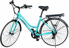 Swagtron EB9 Step-Through Electric City Bike 7 Speed Shimano w/Removable Battery