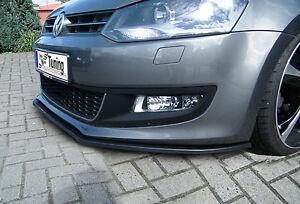 SONDERAKTION: Spoilerschwert Frontspoiler Lippe aus ABS für VW Polo 5 6R mit ABE
