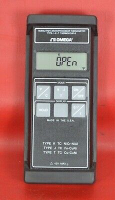 Omega Microprocessor Thermometer Type J-k-t Thermocouple Hh21a