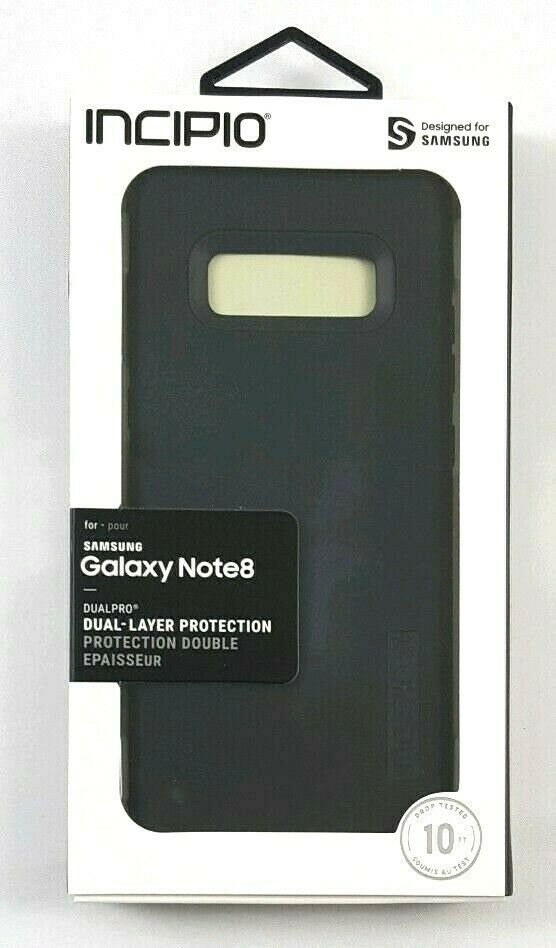 Incipio DualPro Phone Case for Samsung Galaxy Note8 - Black