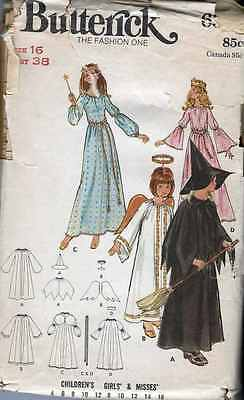 COSTUME FAIRY GODMOTHER Angel PRINCESS Witch SEWING Patterns Vintage  sz - Angel Princess Costume