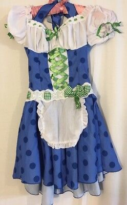 Leg Avenue Blue Polka Dot Maiden Halloween Costume Children Size - Leg Avenue Kids Costumes