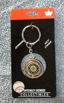 Mlb Seattle Mariners Spinning Keychain   New By Aminco