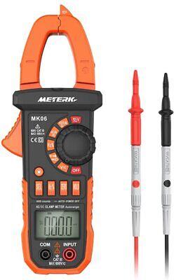 Meterk Digital Clamp Meter Multimeter 4000 Counts Auto-ranging Multimeter Acdc