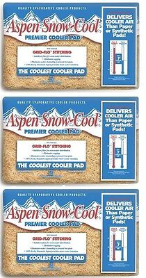 Aspen Snow Cool Water   Swamp Cooler Replacement Pads  Lot Of 3 Pads