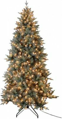 7.5 ft. Blue Spruce Artificial Christmas Tree with 650 UL Lights ()