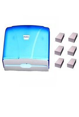Handtuchpapierspender blau Handtuchspender NEU inkl. 1500 Blattinkl. Versand