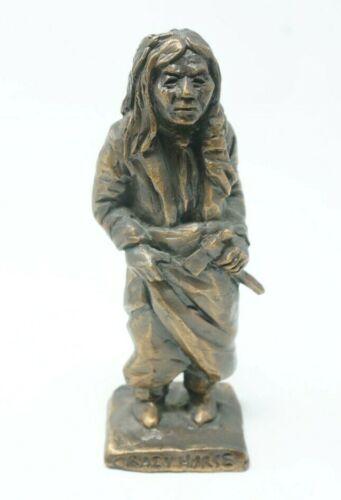 """Crazy Horse"" 1981  Tom Knapp Bronze 4.5"" Figure Statue"