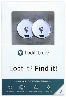 2 Pack TrackR Bravo Find lost items using phone - Ringer/Phone Finder/crowd GPS