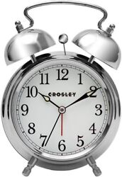 Crosley 33013 Classic Twin Bell Vintage Metal Alarm Clock / Non Ticking by Timel