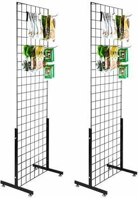 6 X 2 Grid Panel For Retail Display Standing Grid Display Rack W Base 2 Pack
