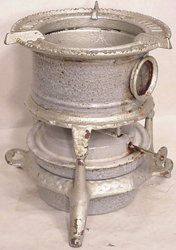 Vintage antique German  kitchen enamel ware tabletop kerosene stove enamelware