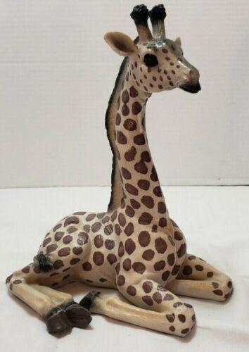Vintage Large 13 Inch Tall Sitting Giraffe Statue Figurine