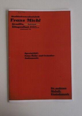 Reprint Katalog - Franz Michl Graslitz