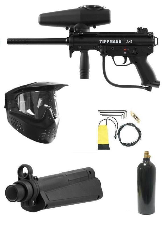 NEW STYLE TIPPMANN A5 RT Response Trigger PAINTBALL GUN+FLATLINE BARREL Package