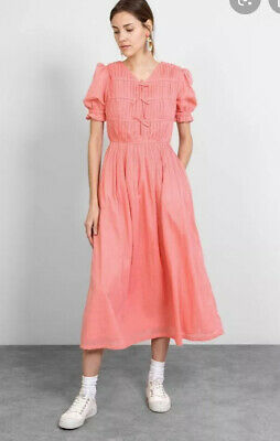 NEW / Rejina Pyo, Kristen PINK cotton voile midi dress - 10 / RRP £695