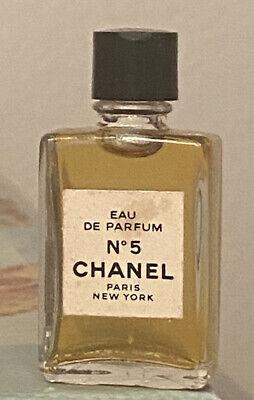 Chanel No 5 Eau de Parfum Perfume Mini Vtg 4ml Miniature Splash Bottle