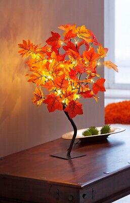 LED Baum AHORN mit 40 LEDs 50cm hoch Lichterbaum Herbst Blätter Lichterzweig NEU