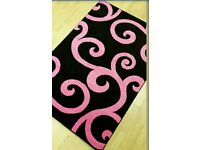 Brand new black and pink rug 3