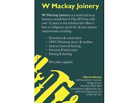 Reputable joinery company based in Aberdeen and surrounding areas
