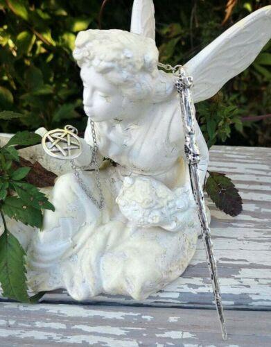 Wand Magic Magical Enchanted Pendulum Pentagram Pentacle Hand Crafted Wicca