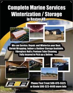 Boat Winterization, Shrink Wrapping, Hauling & Storage